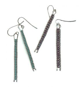 Ladder Earrings with Melody Macduffee @ Ain't Miss Bead Haven Bead Shop